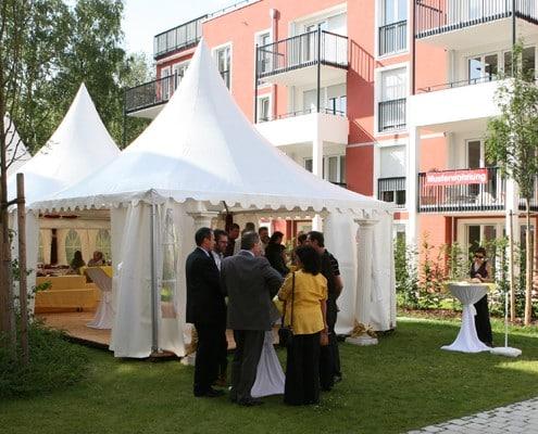 Galerie, Sommerkorn Catering München, Veranstaltung mit Zelt