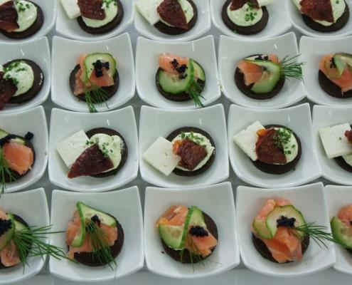 Galerie, Fingerfood in Schalen, Catering & Partyservice GmbH